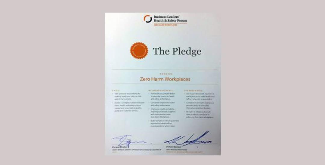Zero Harm Pledge