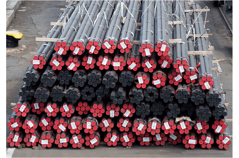 metal pipe labelled bound in yard 1