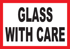 Glass With Care White