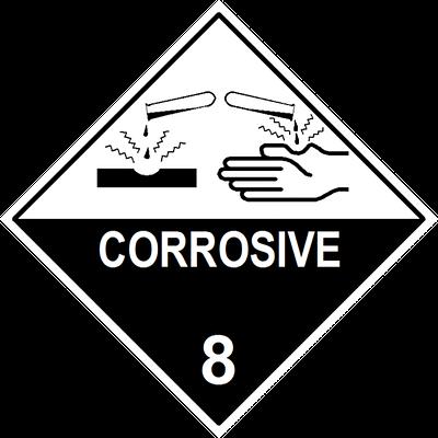 Corrosive Substance Label