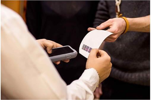 Smartphone scanning barcode