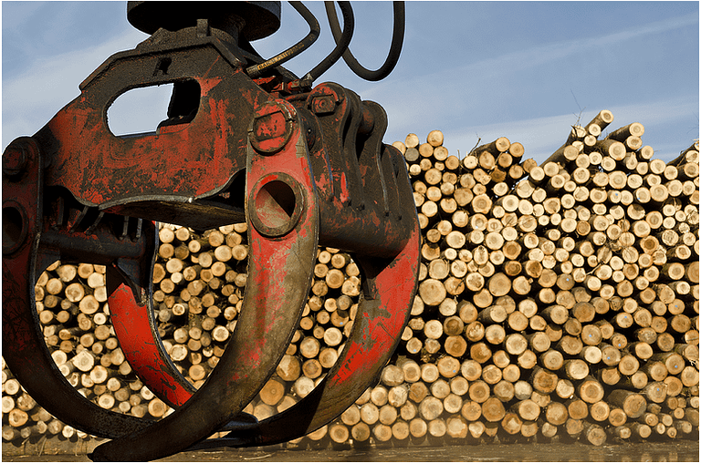 Logs yard grab