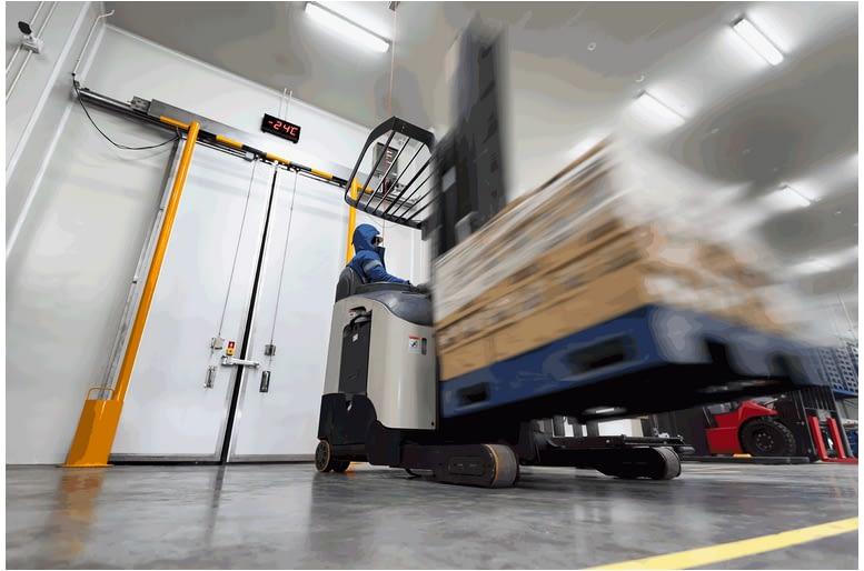 Forklift in action 1