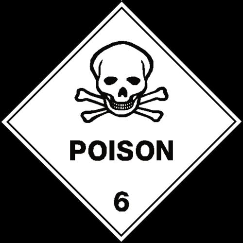 poison 6 label